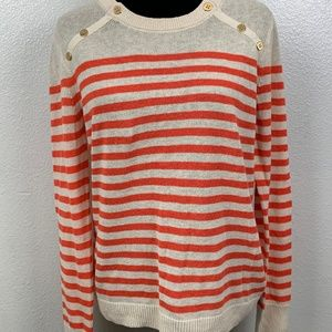 J Crew Factory Sailor-striped Pullover Sweater